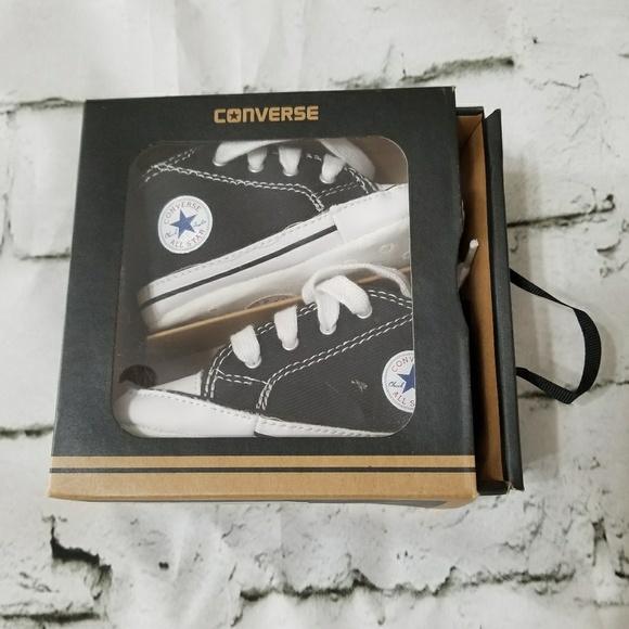 goedkoper populair merk winkel bestsellers Soft Sole Baby Converse, Black, Size 4 NWT